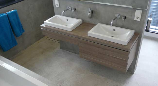 Kan Beton Ciré in de badkamer?