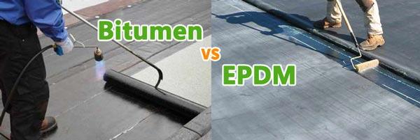 Verschil bitumen en EPDM