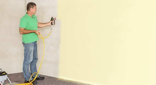 Latex spuiten van muren en plafonds
