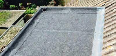 Bitumen plat dak op dakkapel